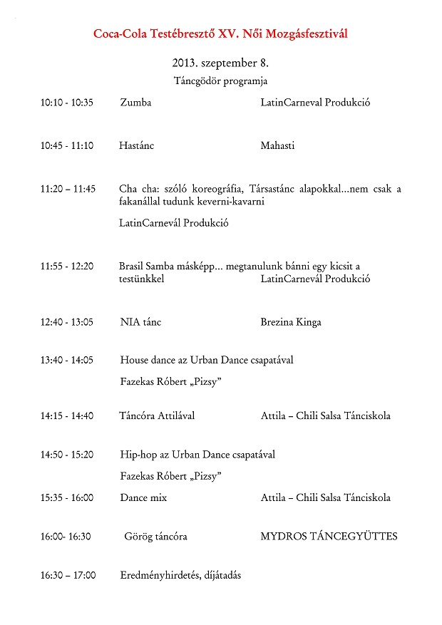 Táncgödör program